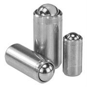 Stainless Steel Spring Plungers with No Collar K0335