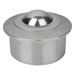 Ball rollers with solid steel housing