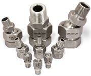 Stainless steel swivel fittings for air nozzles
